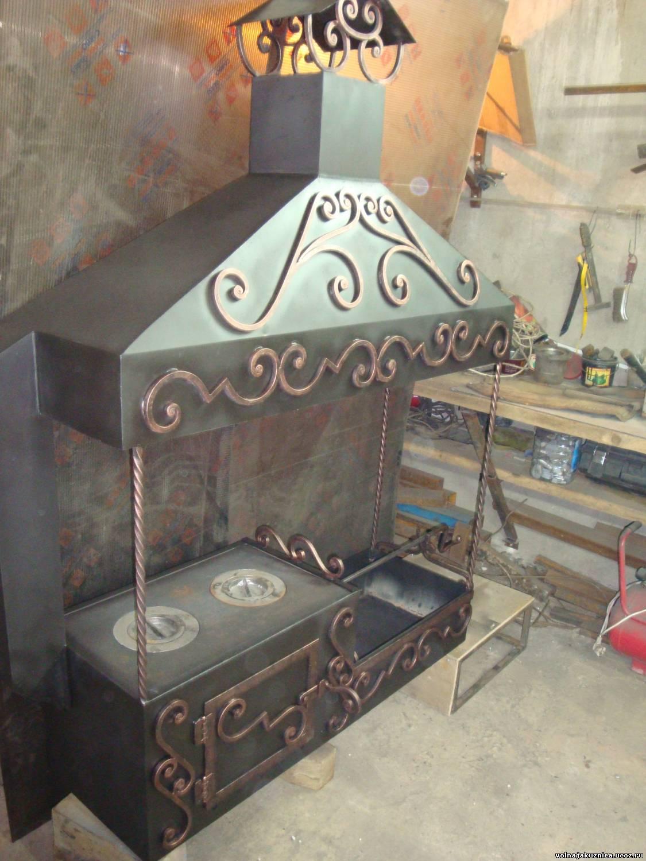 Мангал с казаном из металла своими руками чертежи и пошаговая инструкция